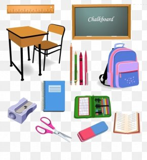School Supplies Texture Element - Student School Classroom Object Clip Art PNG