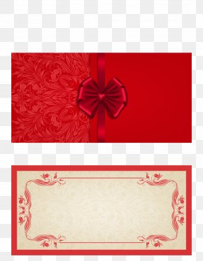 Hand Painted Red Card Invitation Card - Wedding Invitation Paper Greeting Card Business Card PNG