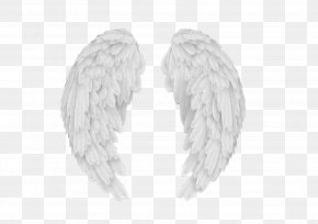 White Angel Wings - The Dwindling Fire Of A Detective Black And White Pattern PNG