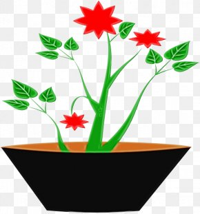 Pedicel Plant - Pot Leaf Cartoon PNG