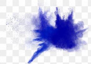 Blue Powder Explosion - Blue Explosion Dust Powder PNG