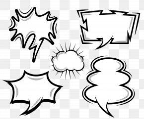 Vector Cloud Comics Explosion Dialog - Comics Speech Balloon Cloud PNG