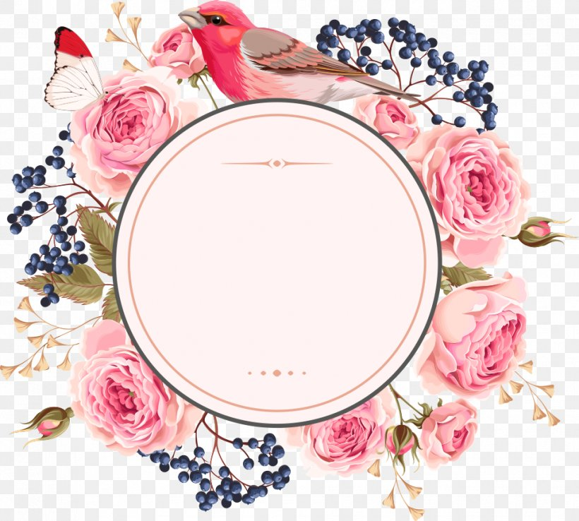 Wedding Invitation Flower Euclidean Vector, PNG, 970x873px, Flower, Artificial Flower, Bird And Flower Painting, Blossom, Dishware Download Free