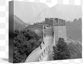 Great Wall Of China - Great Wall Of China Black And White Monochrome Photography PNG