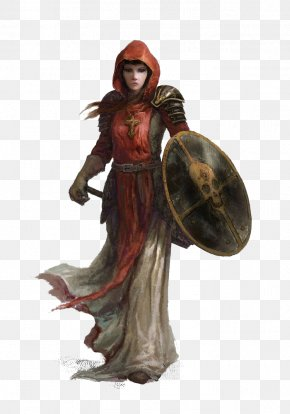 Fantasy Women Warrior File - Dungeons & Dragons Pathfinder Roleplaying Game Cleric Character Fantasy PNG