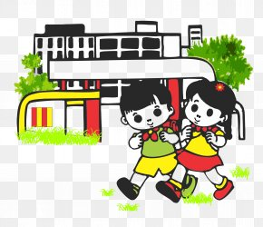 School Kids - School Drawing Cartoon Clip Art PNG