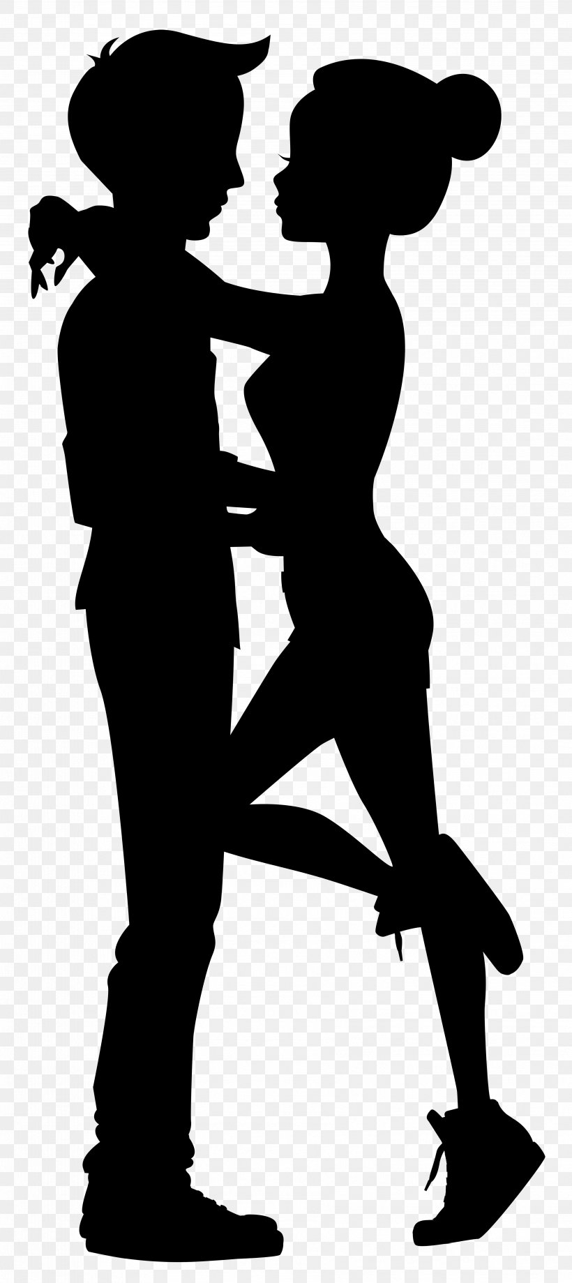 Silhouette Drawing Clip Art, PNG, 3566x8000px, Silhouette, Arm, Black And White, Cartoon, Clip Art Download Free