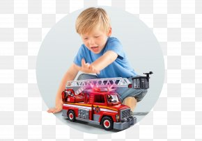 Toy - Toy Playmobil Firefighter Model Car Child PNG