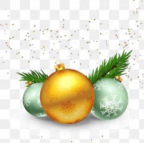 Golden Light Effect Background Christmas Balls - Christmas Euclidean Vector Clip Art PNG