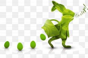 Green Eggs Easter Bunny Vector - Easter Bunny Easter Egg Clip Art PNG