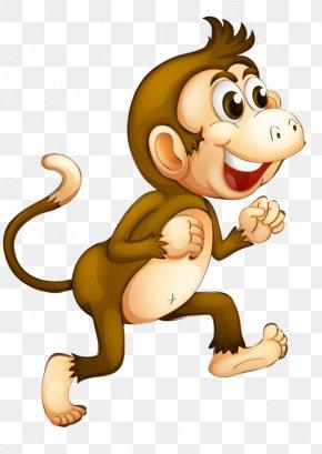 Cartoon Monkey - Chimpanzee Monkey Cartoon Clip Art PNG