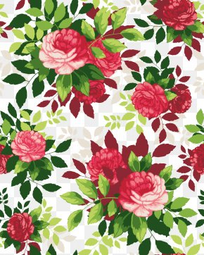 Beautiful Flowers Cartoon Border Shading - Flower Illustration PNG