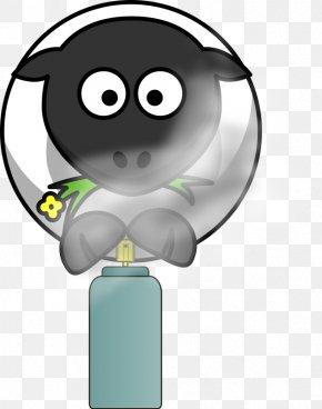 Cartoon Spray Can - Sheep Cartoon Joke Aerosol Spray Clip Art PNG