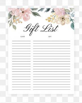 Gift - Baby Shower Gift Registry Paper Boho-chic PNG