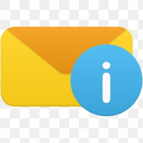 Email Info - Blue Angle Symbol Material PNG