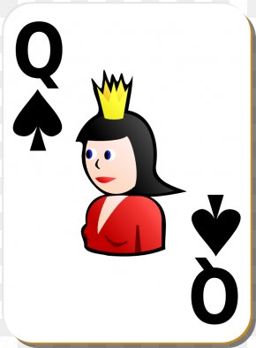 Deck Of Cards Clipart - Queen Of Spades Playing Card Clip Art PNG