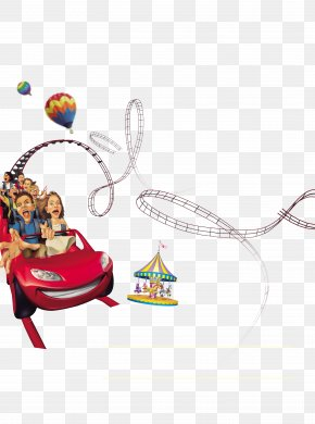 Amusement Park Poster - Amusement Park Roller Coaster Clip Art PNG