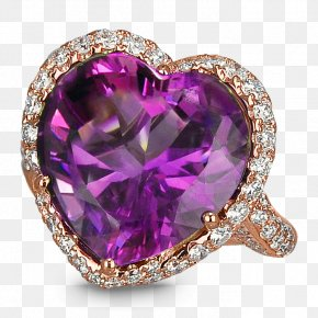 Amethyst - Amethyst Jewellery Ring Gemstone Diamond PNG