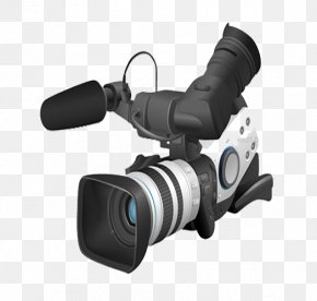 Simple Black And White Technology Camera - Brazil Canon XL2 Video Camera PNG