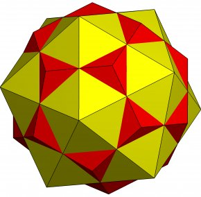 Face - Compound Of Dodecahedron And Icosahedron Regular Icosahedron Polyhedron PNG