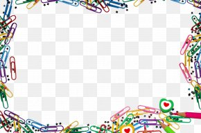 Color Pin And Crayon Border - Microsoft PowerPoint Presentation Slide Download Display Resolution Wallpaper PNG