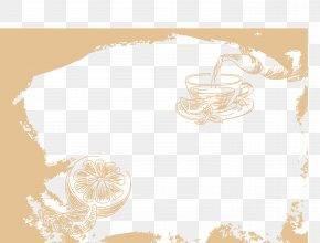 Lemon Coffee Lounge Border - Gratis Download PNG