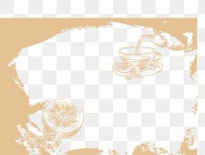Lemon Coffee Lounge Border - Gratis Download PNG