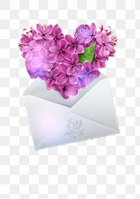 Lilac Petals Heart - Lilac Heart Flower Euclidean Vector PNG