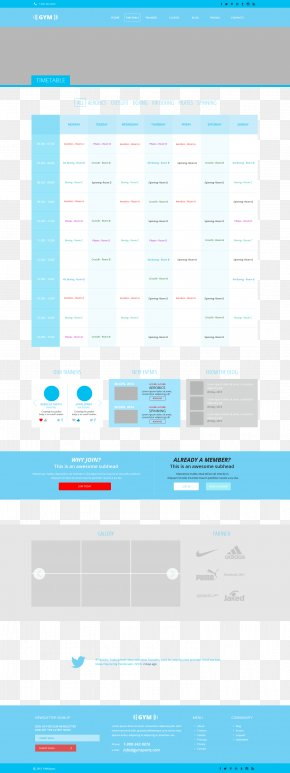 Fitness Website Schedules UI - User Interface Design Icon PNG