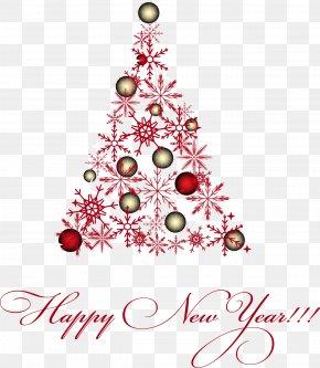 Vector Snowflake Christmas Tree - Christmas Tree Euclidean Vector Snowflake PNG