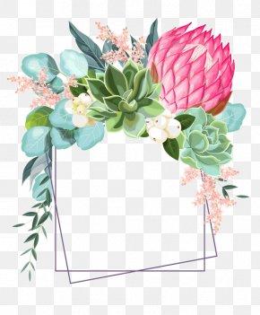 Protea Floral Design - Floral Design PNG