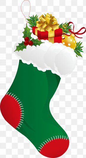 Christmas Gift - Christmas Stocking Sock Clip Art PNG