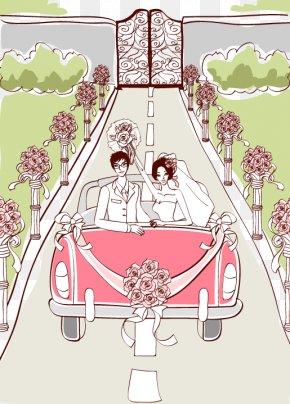 Wedding Scene - Marriage Wedding Illustration PNG