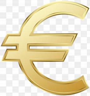 Euro Symbol Clip Art Image - Euro Sign 100 Euro Note Euro Coins Clip Art PNG