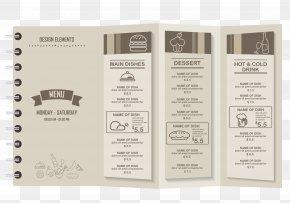 Stylish Restaurant Menu Vector Material - Cafe Menu Restaurant PNG
