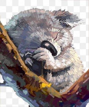 Watercolor Lazy - Koala Australia Watercolor Painting Drawing PNG