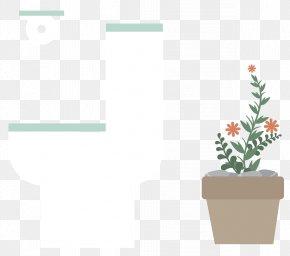 Toilet Vector Material - Flowerpot Euclidean Vector PNG