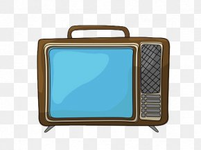 Hand Painted Old TV - Television Kitsch Retro Style Poster Zazzle PNG