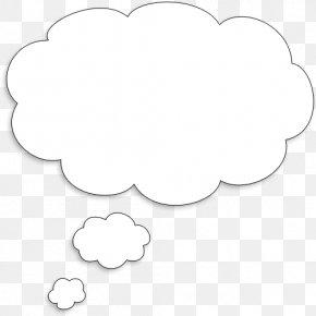 Thought Bubble Transparent - White Black Area Clip Art PNG
