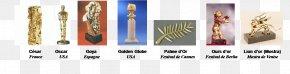 Oscar Statuette - Cannes Film Festival César Award For Best Film Cinematography PNG