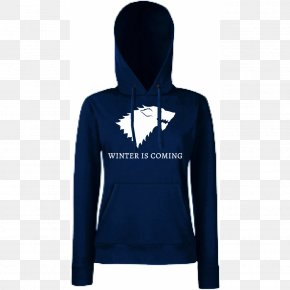 Winter Is Coming - T-shirt Winter Is Coming House Stark Bluza Cotton PNG