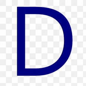 Letter D - Blue Font Area Icon Pattern PNG