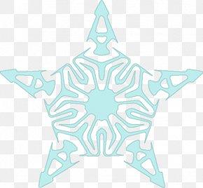 Snowflake - Electric Blue Cobalt Blue Aqua Pattern PNG