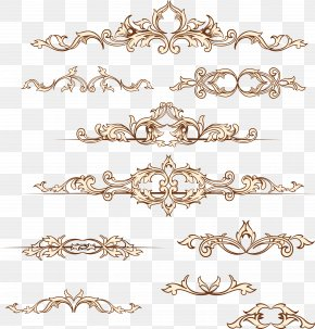 Bronzing Wedding Invitation Border - Wedding Invitation Paper Clip Art PNG