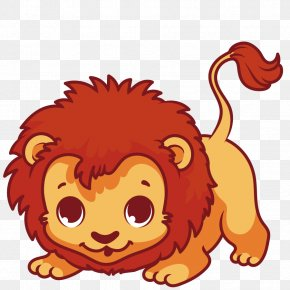 Vector Lion King Of The Forest - Lion Drawing Cuteness PNG