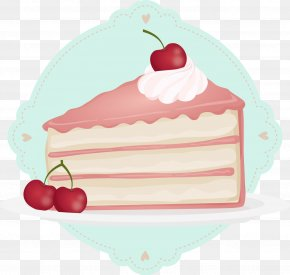 Vector Hand-painted Cherry Cake - Birthday Cake Wish Happy Birthday To You Greeting Card PNG