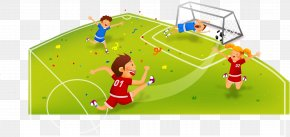 Vector Football - Football Player Football Pitch Game PNG
