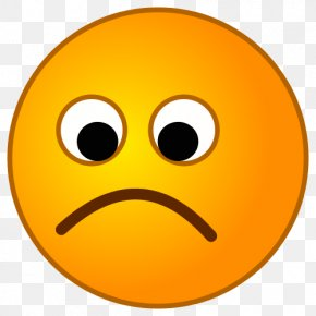 Smiley Face Sad - Smiley Sadness Emoticon Clip Art PNG