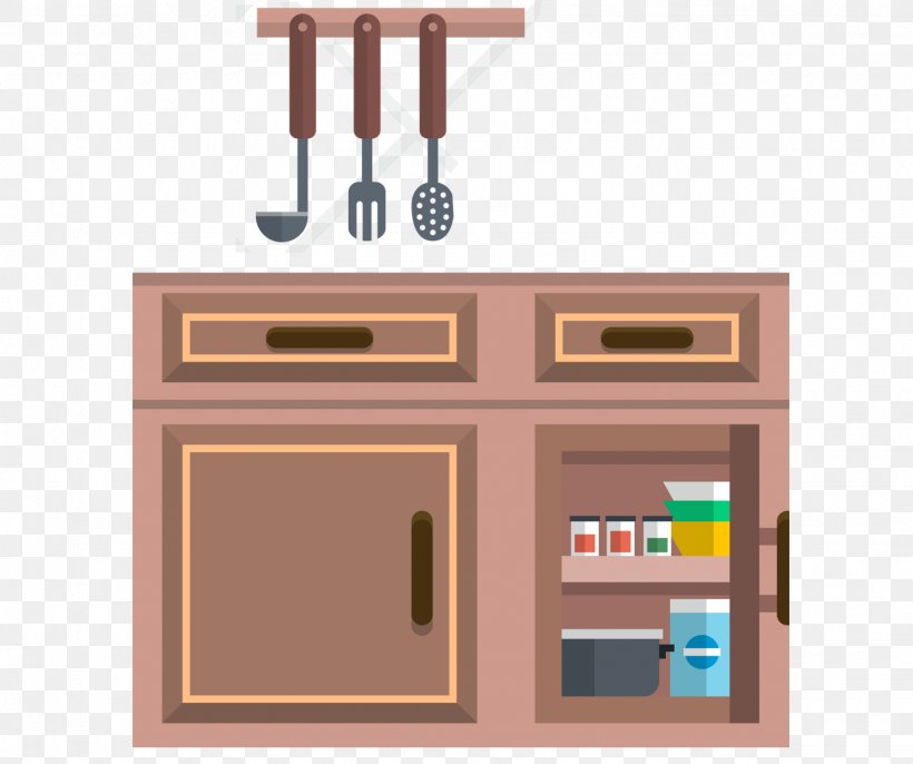 Furniture Kitchen Cabinet Cupboard, PNG, 1433x1200px ...