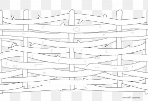 Fence - Colouring Pages Coloring Book Fence Line Art Drawing PNG